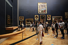 Louvre museum reopens four months after closure