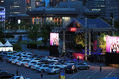 Drive-in concert at Gyeongbokg