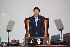 Nat'l Assembly speaker Park Byeong-seug calls for a parliament that prioritizes public livelihoods