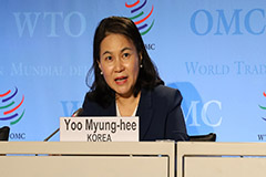 Seoul's trade minister stresses she's most suitable for WTO reform