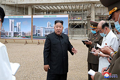 N. Korean leader Kim Jong-un scolds hospital construction workers for careless budget management