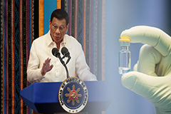 China pledges priority vaccine access for the Philippines
