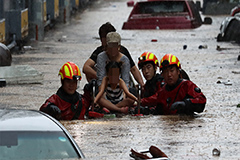 Central, southern S. Korea slammed by torrential rain; Daejeon among hardest-hit places