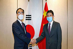 S. Korean, Chinese diplomats hold first face-to-face meeting since start of pandemic