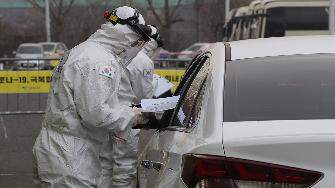 S. Korea's drive-thru virus test model proposed as global standard