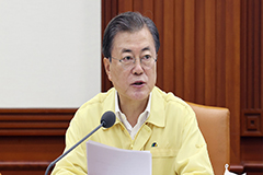 President Moon calls for all possible financial measures to help those affected by monsoon
