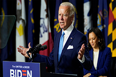 Biden, Harris make first public appearance together as running mates