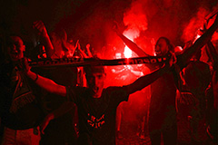 Violence in Paris as PSG fans clash with riot police after losing Champions League final