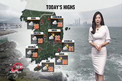 Weather conditions improve this afternoon, another typhoon approaching Korea