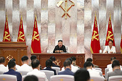 N. Korea's leader chairs party meeting to discuss Typhoon Maysak damage