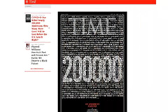 Time magazine uses black cover border marking nearly 200,000 U.S. deaths
