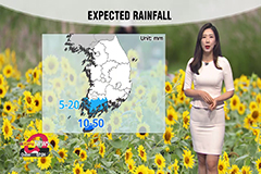 Rain over Jeju and Jeollanam-do Province, clear autumn day for rest of regions