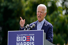 U.S. Democratic presidential nominee Joe Biden's budget policies would grow deficits by US$ 2 tril.: Study