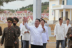 N. Korean leader praises army for rebuilding typhoon-hit area: State media