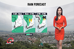 Rain across country, cooler daytime highs