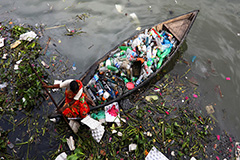 Pandemic plastic pollution thr