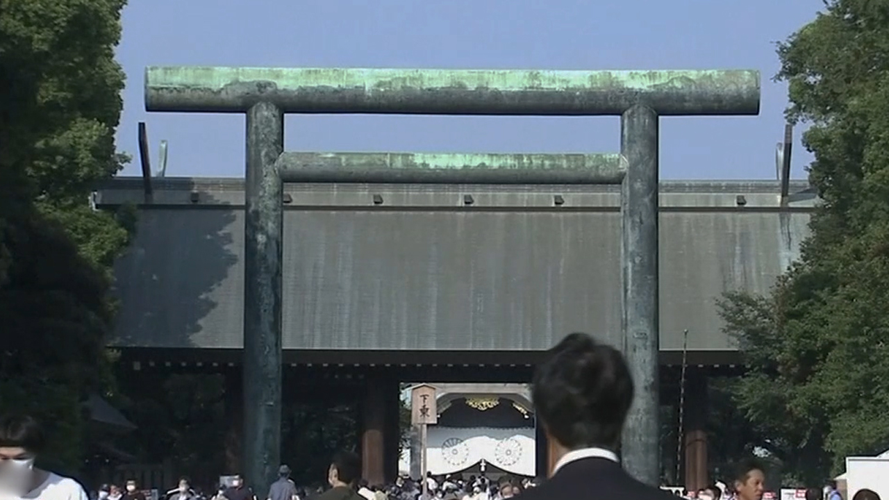 Former Japanese Prime Minister Shinzo Abe worships at Yasukuni shrine for first time in almost seven years