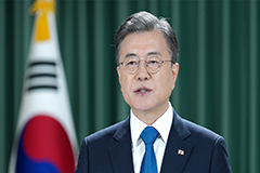 President Moon says declaration to end Korean War will pave way for denuclearization, peace