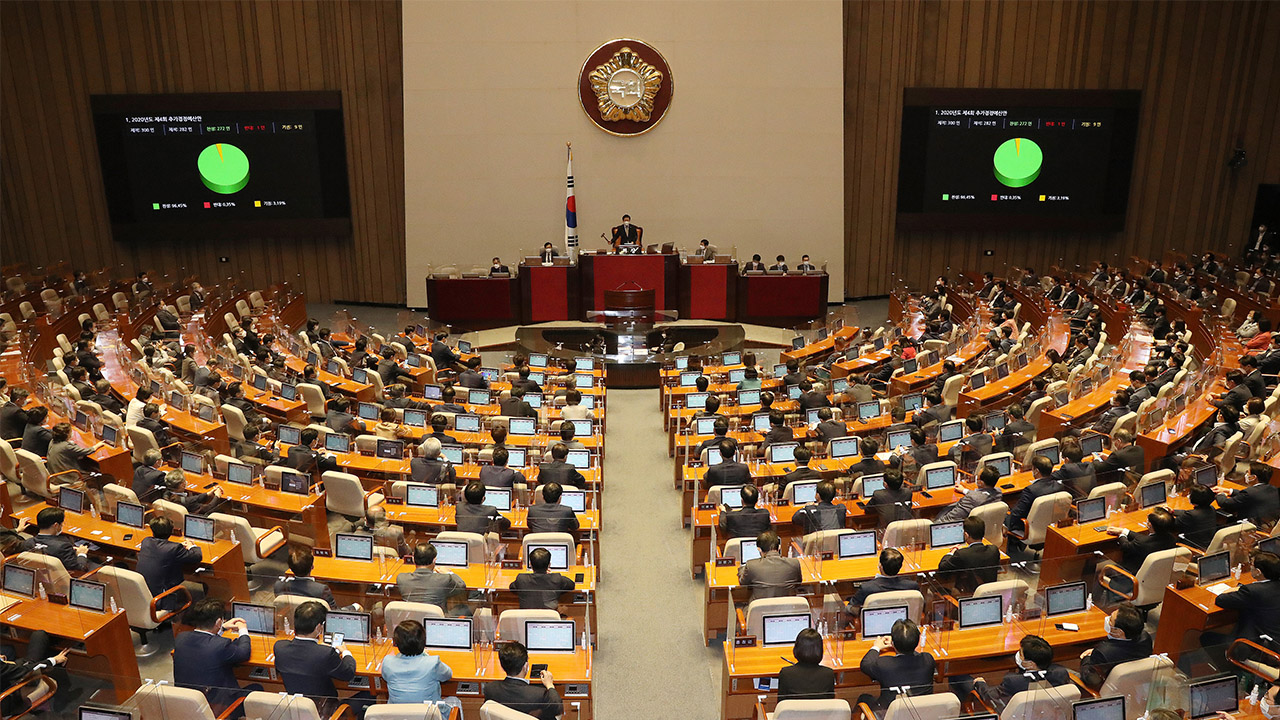 S. Korean lawmakers pass 4th extra budget bill of 2020 to finance COVID-19 relief