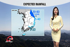 Clouds in inland regions, rain on Jeju and east coast