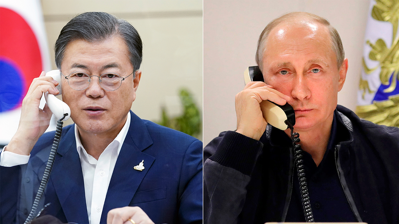 Moon, Putin agree to cooperate on Inter-Korean peace despite
