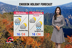 Clear autumn skies with warm highs, rain in store during Chuseok holiday