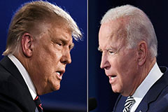 Trump and Biden clash fiercely