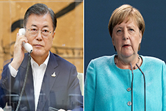 President Moon seeks Germany's support for WTO chief selection