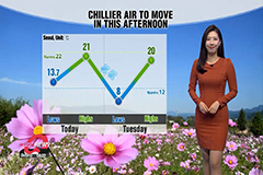 Fine autumn day to start new week, chilly air to move in this afternoon
