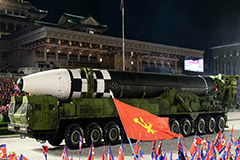 S. Korean, U.S. militaries analyzing weapons displayed in massive N. Korean parade