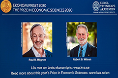 Nobel Prize in Economics given to Paul Milgrom, Robert Wilson for auction theory