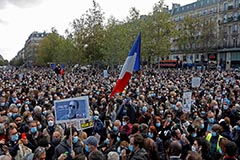 Thousands gather in Paris in m