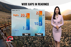 Chilly start to day, thick inland fog