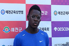 Teenage sprinter Daniel Biwesa