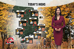 Rain for Jeju and south, breezy afternoon