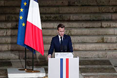 Macron pays tribute to murdered teacher, named 'face of the Republic'