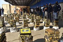 Paraguay police seize record $500 mil. cocaine haul hidden in charcoal