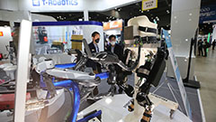 2020 Robot World exhibition displays service and industrial robots