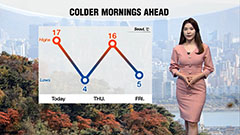 Colder morning tomorrow...fine