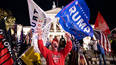 Violence erupts after pro-Trump rally