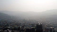 Ultrafine dust sweeps into the South Korean capital