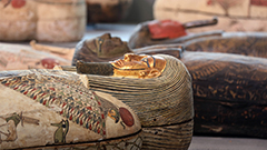 Egypt showcases scores of 2,500-year-old coffins