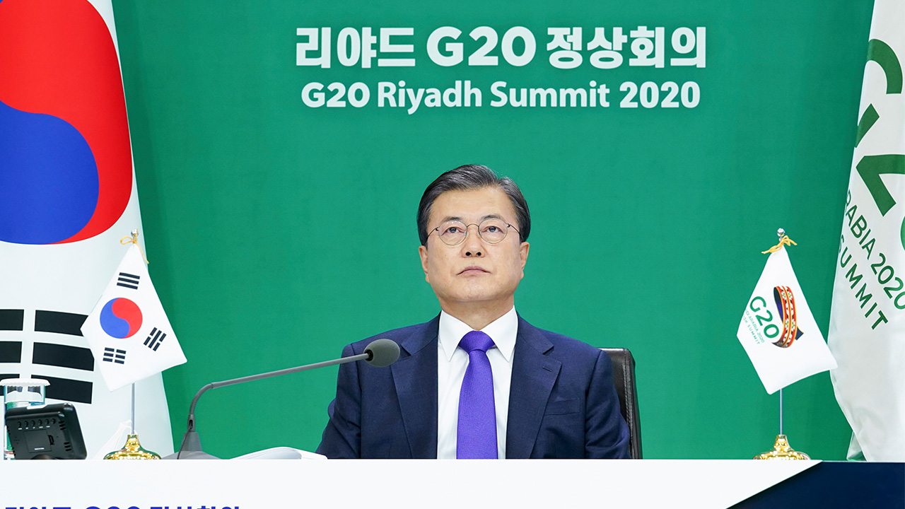 President Moon reaffirms commitment to go carbon neutral by 2050 at G20 Summit