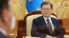 President Moon says S. Korea will continue with efforts for denuclearization in talks with Wang Yi