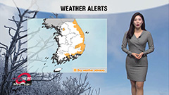 Highs will be couple notches lower with dry weather alerts in east of Seoul
