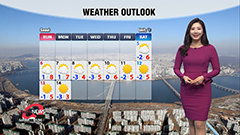 Cold and dry Friday under sunny skies