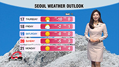 Coldest morning of season, snow on west coast and Jeju