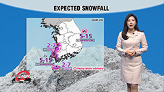 Severe cold snap carries on with snow on the west coast near Jeolla-do Provinces