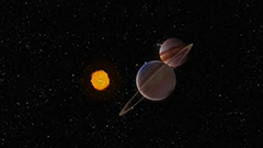 Jupiter and Saturn form closes
