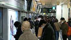 Subway cars in Seoul still crowded during rush hour despite Level 2.5 social distancing